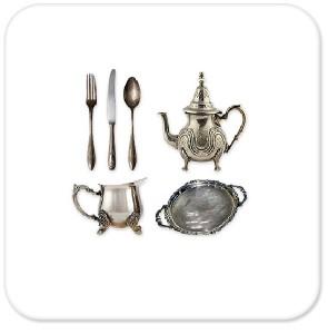 Silverware and Tea Sets