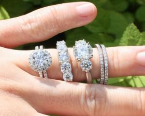 many diamond rings